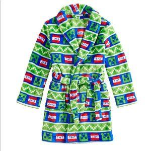 Minecraft Creeper TNT Soft Plush Robe